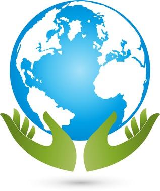Erde und Hnde, Globus, Weltkugel, Vektor